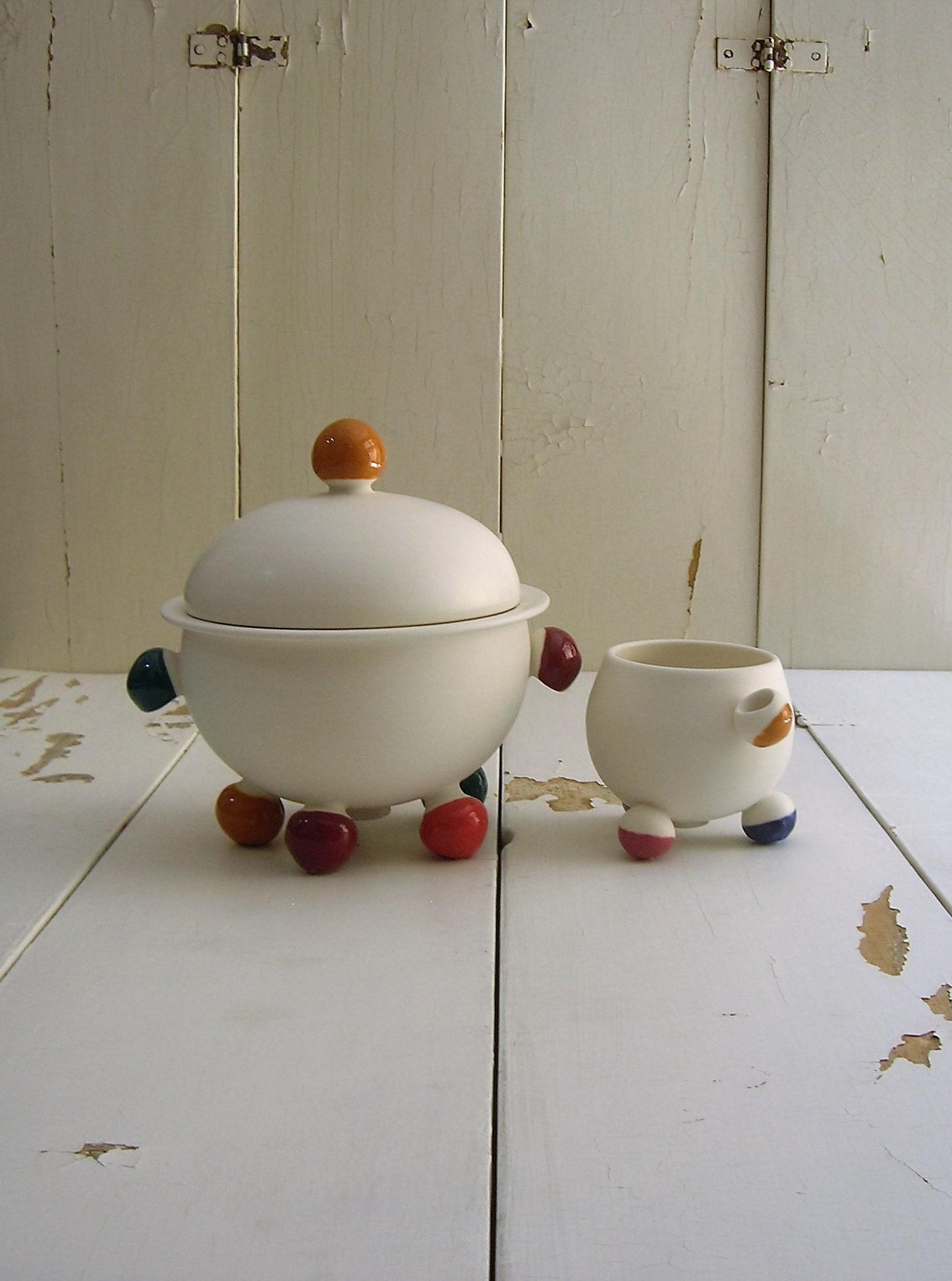 OLIVA contenitori zuppiere teiere zuccheriere lattiere tazze tazzine